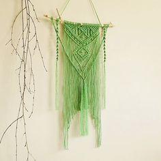 Macrame tapestry wall hanging wall decor green boho