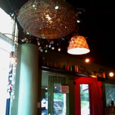 Beautifully decorated lamps on ceiling @ Darak