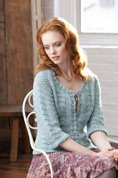 My Fair Cardi ~ beautiful cardigan!  free pattern using the Feather and Fan stitch