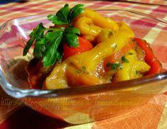 Peperoni arrostiti con pesto di acciughe, Ricetta contorno saporito