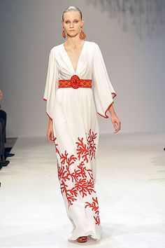 Andrew Gn coral caftan dress. Timeless, elegant, simply stunning. Eternal summer style.