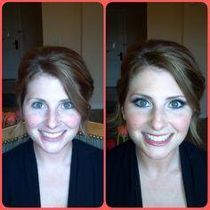 Purples enhance green eyes. Wedding makeup by Wendy Zerrudo