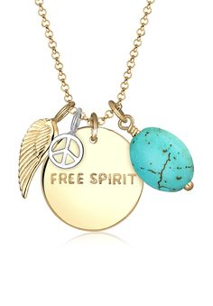 Fashion jewelry at its best for any festival or boho look: Elli gold plated necklace great pendants