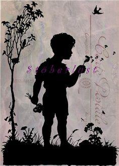 """Nostalgiemotive - Postkarte """"Pusteblume für Dich"""" Carte Postale - ein Designerstück von vichylein- bei DaWanda"""