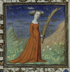 15th century French Book of Hours Virgo