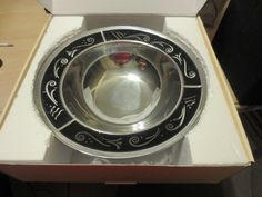 Buy Lenox Spyro Black Bowl Metal Decorative Rim New Beautiful Bowl by moodsoflife. Explore more products on http://moodsoflife.etsy.com