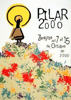 Cartel a concurso del Pilar año 2000 Titulo: Ofrenda 2000