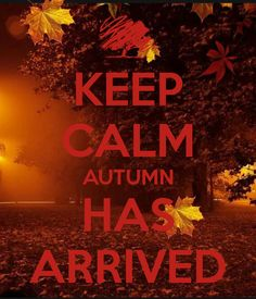 KEEP CALM AUTUMN HAS ARRIVED