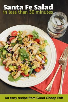 Santa Fe Salad with Chicken, Corn, and Black Beans