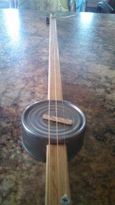 Tuna can 3 string guitar canjo