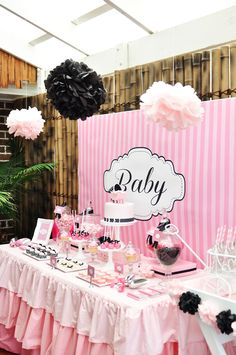 so cute baby girl shower! OMG @Tawnya Elrod Elrod Monaco this would be soo cute if you have a girl!