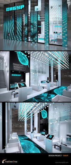 Проект выставочного стенда для компании Сибур