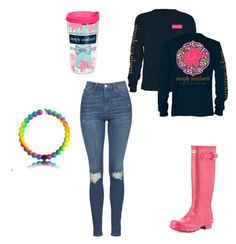 """""""School #5"""" by bigsiscorinne ❤ liked on Polyvore featuring Tervis, Hunter and Topshop"""
