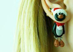 Christmas penguin fake gauge Xmas fake von JEWELRYandPLEASURE, $18.00
