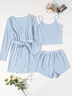 Girls Fashion Clothes, Teen Fashion Outfits, Outfits For Teens, Girl Fashion, Girl Outfits, Cute Outfits, Cute Pajama Sets, Cute Pajamas, Pyjamas
