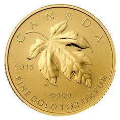 2015 Canada 1 oz Pure Gold Fractional coin - Maple Leaf - Mintage: 600