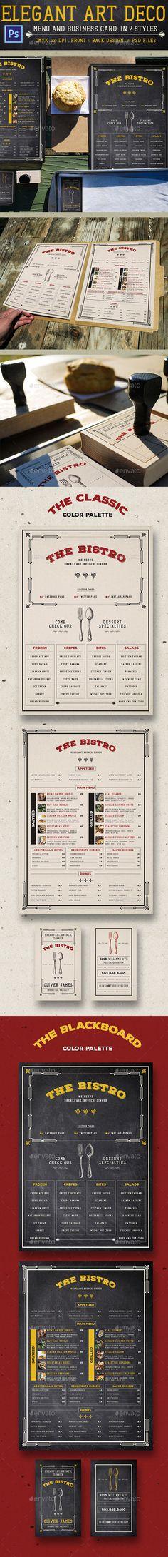 Mexican Restaurant Menu Template Psd  Business Card