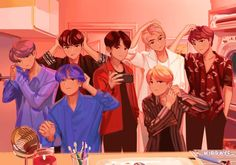cr to the artist Bts Namjoon, Bts Bangtan Boy, Jung Hoseok, Taehyung, Foto Bts, Bts Photo, I Need U Bts, Kpop Anime, Bts Art