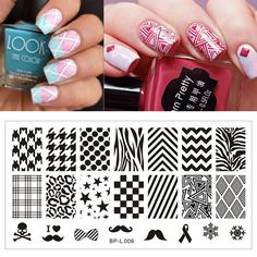 1 Pc Selected Classic Patterns Nail Art Stamping Template Image Plate BORN PRETTY Nail Stamp Plate  L006 12.5 x 6.5cm