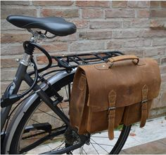 Leather Bicycle Bag briefcase bike klickfix 'Marc' £77.00