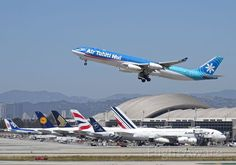 Photo of Airbus A340-300 (F-OSEA) ✈ FlightAware Air Tahiti, Tahiti Nui, Fly Air, Jets, Airplane, Aviation, Aircraft, Logos, Happy