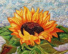 sunflower art, quilt
