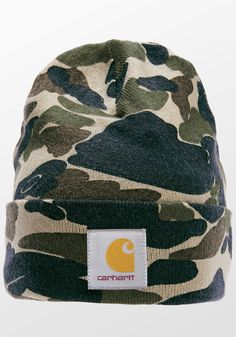 60be0d23c8 CARHARTT Camo Beanie Carhartt Wip, Camo, Autumn Winter Fashion, Hunting,  Camouflage,