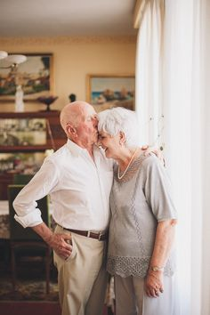 old couple still in love, I think that's really sweet