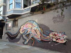 Street art in San Francisco 3d Street Art, Street Art News, Best Street Art, Street Art Graffiti, Street Artists, California San Francisco, Oakland California, Urbane Kunst, Colossal Art