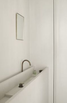 Vanity in natural stone - House in Antwerp  Belgium by Hans Verstuyft Architects