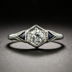.32 Carat Art Deco Diamond Engagement Ring - 10-1-5452 - Lang Antiques