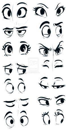 drawing girl eyes cartoon - Buscar con Google                                                                                                                                                                                 Más