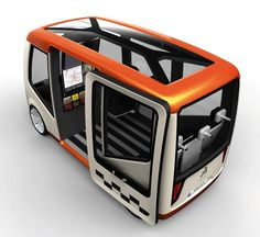 Futuristic Taxi Prague Taxi Car Concept