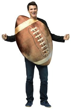 Take a look at this Brown Football Dress-Up Outfit - Adult by Rasta Imposta on today! Football Dress, Football Costume, Football Outfits, Men's Football, Baseball, Funny Adult Costumes, Real Costumes, Sports Costumes, Halloween Men