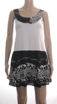 06b4d44e0b4 NWT Lovely Retro Style Black Cream Lady Dress size S  fashion  clothing   shoes