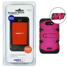 Designer cell phone kickstand case ~ Metro PCS Lg Motion 4G w/ screen protector | eBay 14.95