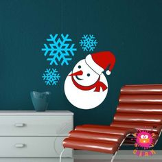 Chipakk Snowman Wall Decal,Home-Wall-Decal