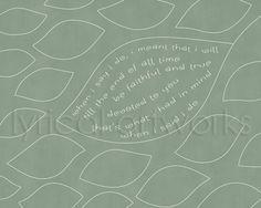When I Say I Do / Clint Black  Music Lyric Art by LyricalArtworks, $19.95