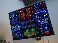Arduino controlled super control panel interfaces with PC