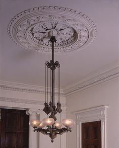 Ancient & Modern, A blog by Thomas Jayne and the Jayne Design Studio/ Grand ceiling medallion/ The Merchant's House Museum, at 29 East 4th Street, also known as the Seabury Tredwell House, is one of the great gems of New York.