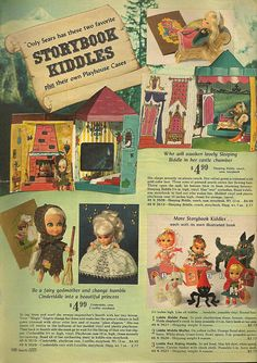 Storybook Kiddles I had Little Red riding hood and Miss Muffet. Oh how I wish I still had them today.