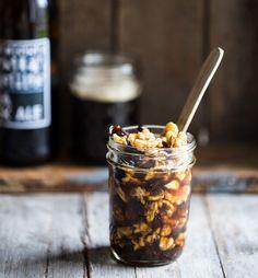 Ølsyltede valnødder til ost Chutney, Summer Nails, Tapas, Buffet, Cereal, Oatmeal, Recipies, Brunch, Sweets