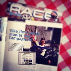 Interview with me in RACE! a consumer magazine published by the Dutch Campagnolo import company ICC.