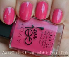 Avon Gel Finish nail polish in Parfait Pink via @beautybymissl