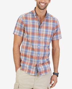 cf527febef Nautica Men s Plaid Button-Down Short-Sleeve Shirt   Reviews - Casual  Button-Down Shirts - Men - Macy s