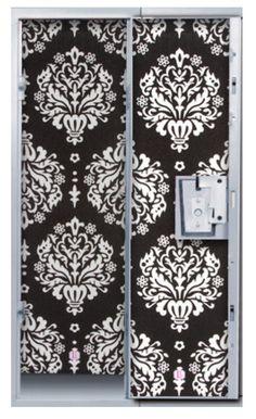 Black & White Damask Print Glitter Locker Wallpaper for $19.99.