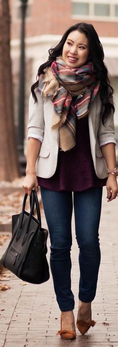 And Peplum Layering Fall Outfits, Casual Outfits, Cute Outfits, Modest Fashion, Fashion Outfits, Fashion Tips, Real Style, My Style, Layering Style