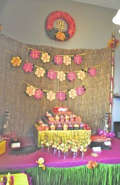 "Photo 19 of 23: Hawaiian Luau / Birthday ""Brylee's Birthday Luau"" | Catch My Party"