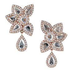 Avakian. Haute Joaillerie Flower earrings.