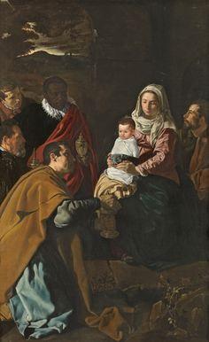A la Pediatría desde el Arte. Adoración de los Reyes Magos. Diego Rodríguez de Silva y Velázquez, 1619